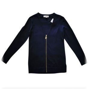 Michael Kors Full Zip Knit Cardigan
